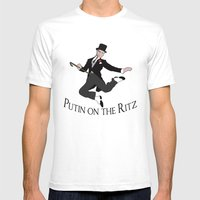 Putin on the Ritz Mens Fitted Tee White SMALL
