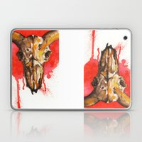 Red Moon Skull Laptop & iPad Skin