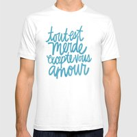 Excepte Vous Amour Mens Fitted Tee White SMALL
