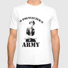 Jo Polniaczek's Army Mens Fitted Tee SMALL White
