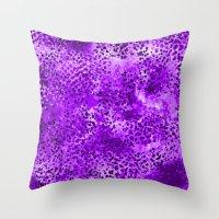 Wild (Series) Purple Throw Pillow