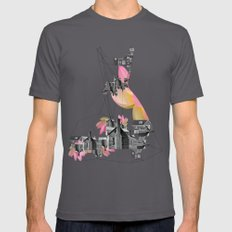 Filled with city Mens Fitted Tee Asphalt SMALL