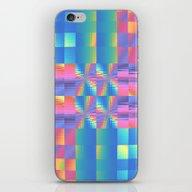 Grungy, Glitchy Gingham iPhone & iPod Skin
