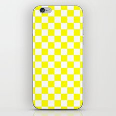 Checker (Yellow/White) iPhone & iPod Skin