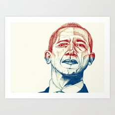 Red, White and Obama Art Print