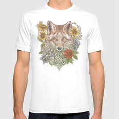 Fox Garden SMALL Mens Fitted Tee White