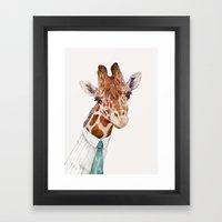 Mr Giraffe Framed Art Print
