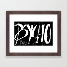 Psycho Font Framed Art Print