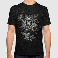 Zendala snowflake denim Mens Fitted Tee Tri-Black SMALL