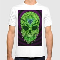 Toxxik Skull Mens Fitted Tee White SMALL