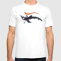 Grandpa Orca Mens Fitted Tee White SMALL