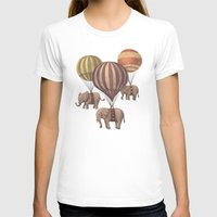 clouds T-shirts featuring Flight of the Elephants  by Terry Fan