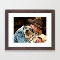 Cowboy's Best Friend Framed Art Print