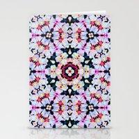 Kaleidoscope Flowers  Stationery Cards