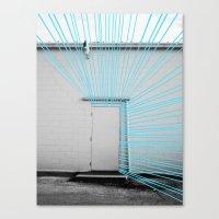 White Door, Blue Prism Canvas Print