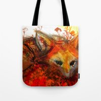Fox in Sunset III Tote Bag