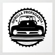 Gorilla Propaganda Art Print