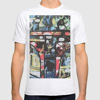 Boba Fett Collage Mens Fitted Tee Ash Grey SMALL