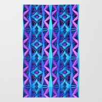 Blue/Purple Metallic Pattern Rug