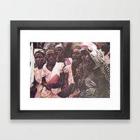 Village Festival Framed Art Print
