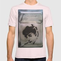 AUDREY HEPBURN Mens Fitted Tee Light Pink SMALL