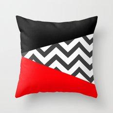 Color Blocked Chevron 10 Throw Pillow