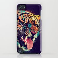 iPod Touch Cases featuring FEROCIOUS TIGER by dzeri29