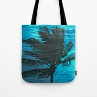 Swimming Palm Tote Bag