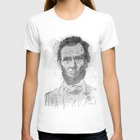 Five Dollar Synopsis For Abraham Womens Fitted Tee White SMALL