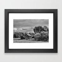 Down On The Farm Black A… Framed Art Print