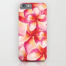 Plumeria Floral Watercolor iPhone 6 Slim Case