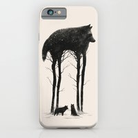 wolf iPhone & iPod Cases featuring Standing Tall by DB Art