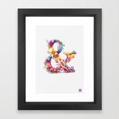 Mushrooms & Framed Art Print