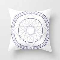 Anime Magic Circle 16 Throw Pillow