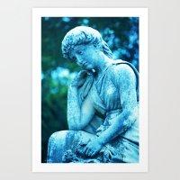 Goddess Blue II Art Print