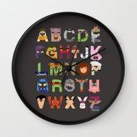 TMNT ABCs Wall Clock