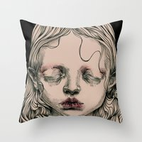 Rabbit Eyes Throw Pillow