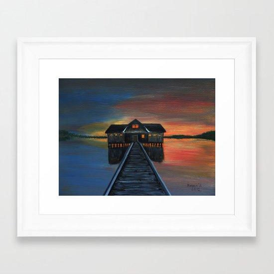 Old boat house  Framed Art Print