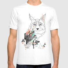 Lynx Mens Fitted Tee White SMALL