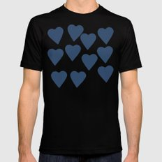 Hearts Navy Mens Fitted Tee Black SMALL