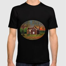 Old Farmhouse  SMALL Mens Fitted Tee Black