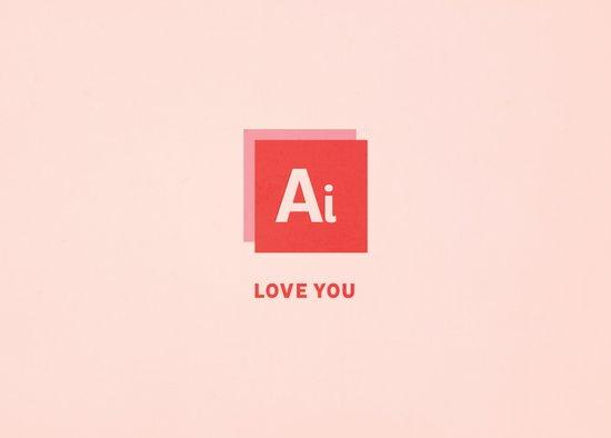 Ai Love You Art Print