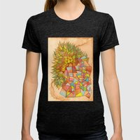 Plantas y cristales Womens Fitted Tee Tri-Black SMALL