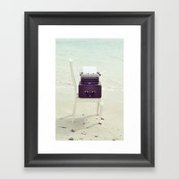The Voice of the Sea. Framed Art Print