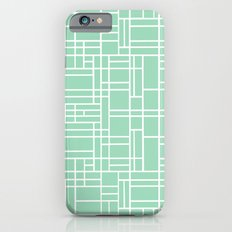 Map Outline Mint Slim Case iPhone 6s