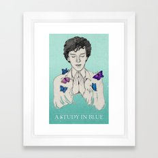 A STUDY IN BLUE Framed Art Print