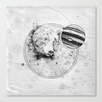 Panic At The Planetarium Canvas Print
