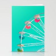 Minty Ferris Wheel Of Ha… Stationery Cards
