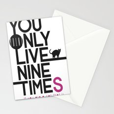 YOLNT. YOU ONLY LIVE NINE TIMES. Stationery Cards