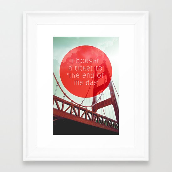 the end of my day Framed Art Print